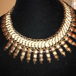 BCBG max azria Gold statement goddess necklace